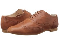 Massimo Matteo Wing Oxford Cuoio Women's Lace Up Casual Shoes Brown