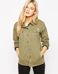 Rvca Long Sleeve Utility Shirt Dustyolive