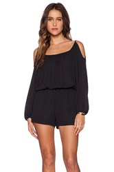 Eight Sixty Cold Shoulder Romper Black