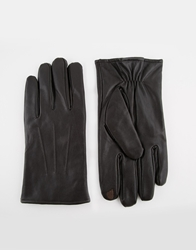Totes Leather Gloves With Smart Touch Brown