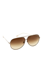 Dita Condor Aviator Sunglasses Dark Brown