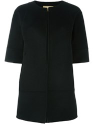 Michael Kors Three Quarter Sleeve Coat Black