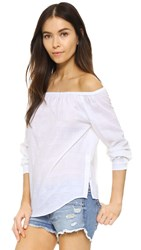 Rag And Bone Off Shoulder Shirt White