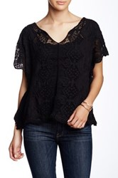 Angie Kaftan Crochet Blouse Black