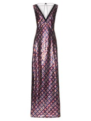 Marc Jacobs Tulle Panel Sequin Embellished Gown