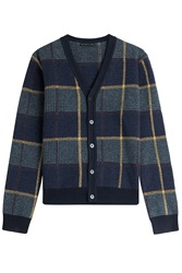 Etro Wool Cardigan Blue
