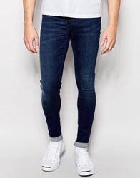 Blend Of America Blend Flurry Extreme Super Skinny Jeans In Dark Blue Dark Blue