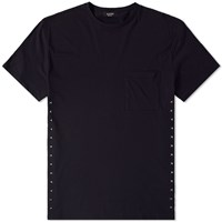 Valentino Side Stud Pocket Tee Black