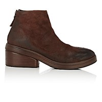 Marsell Women's Back Zip Ankle Boots Dark Brown