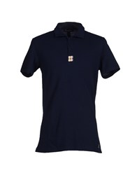 Aquascutum London Aquascutum Topwear Polo Shirts Men Dark Blue