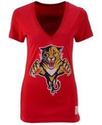 Retro Brand Women's Florida Panthers Block Logo T Shirt Red