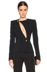 Thierry Mugler Mugler Fitted Cady Jacket In Black
