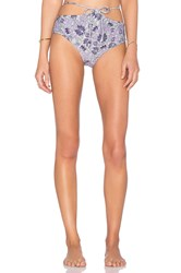 For Love And Lemons Monaco High Waist Bikini Bottom Blue