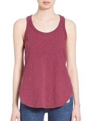 Wilt Shrunken Seamed Tank Raspberry