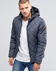 Blend Of America Hooded Quilted Jacket Ebony Grey Ebony Grey