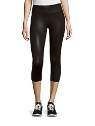 Calvin Klein Printed Cropped Leggings Black