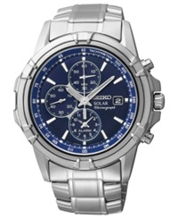 Seiko Watch Men's Chronograph Solar Stainless Steel Bracelet 43Mm Ssc141