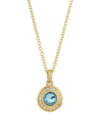 Ippolita 18K Lollipop Mini Blue Topaz And Diamond Pendant Necklace Women's