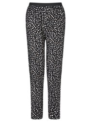 Collection Weekend By John Lewis Monochrome Petal Print Trousers Black