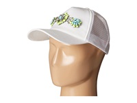 Betsey Johnson 2 Color Jewel Embellished Hat Green White Caps