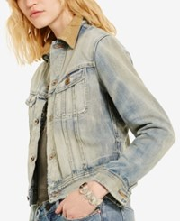 Denim And Supply Ralph Lauren Webster Cropped Jacket Navy