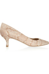 Stella Mccartney Snake Effect Jacquard Pumps
