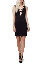 Topshop Cutout Body Con Dress Black