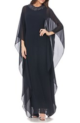 Js Collections Women's Beaded Chiffon Caftan Gown