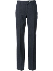 Christophe Lemaire Thornproof Trim Flared Trousers Grey