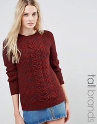Vero Moda Tall Cable Knit Jumper Fired Brick