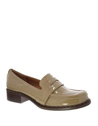 Nina Mystique Patent Leather Loafers Taupe
