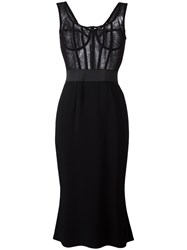 Dolce And Gabbana Bustier Tulle Dress Black