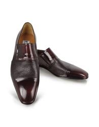 Moreschi Lugano Burgundy Leather Loafer Bordeaux
