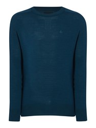 Army And Navy Hamilton Merino Crew Neck Jumper Petrol