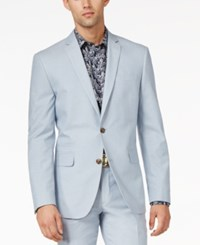 Bar Iii Light Blue Chambray Slim Fit Jacket Only At Macy's Light Past