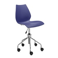 Kartell Maui Swivel Chair Navy Blue