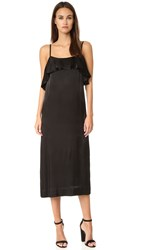 Apiece Apart Pedernal Slip Dress Black