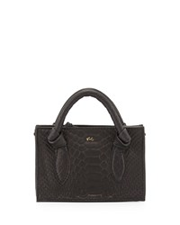 Foley Corinna Gigi Snake Embossed Leather Petite Crossbody Bag Black