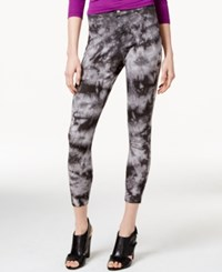 Hue Tie Dye Super Smooth Denim Skimmer Leggings Dark Blue