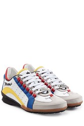 Dsquared2 Leather Sneakers Multicolor
