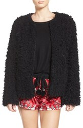 Kensie Women's Faux Fur Cardigan