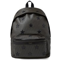 Saint Laurent Star Monogram Backpack Black