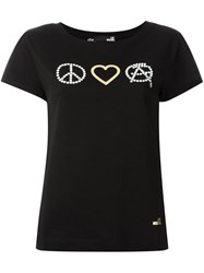 Love Moschino Peace T Shirt Black