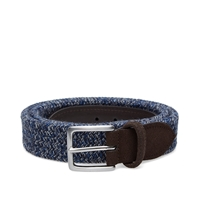 Andersons Anderson's Woven Marl Suede Trim Belt Navy