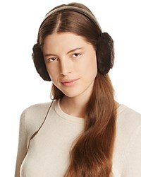 Ugg Croft Wired Headphone Quilted Shearling Earmuffs Chocolate