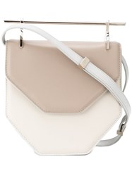 M2malletier Contrast Closure Cross Body Bag Nude And Neutrals