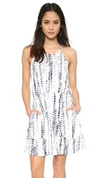 Cooper And Ella Rosie Back Detail Dress Dotted Stripes