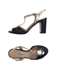 The Seller Footwear Sandals Women Dark Blue