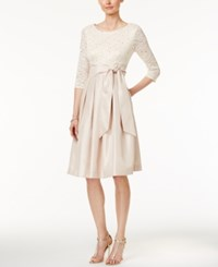 Jessica Howard Sequined Lace A Line Dress Champagne