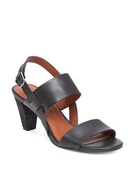 Lucky Brand Patie Snake Print Leather Sandals Black